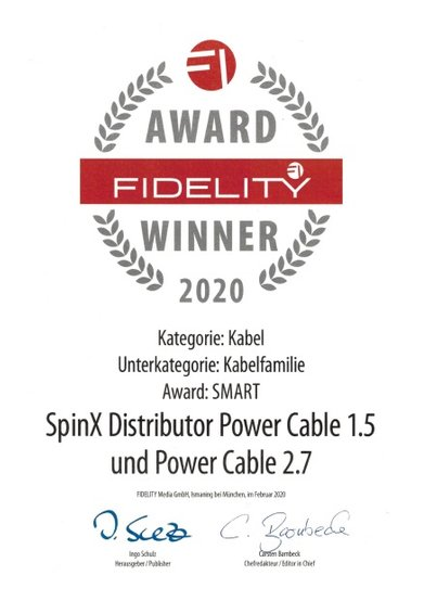 Award Fidelity Winner 2020